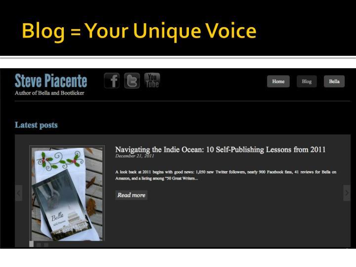 Blog your unique voice