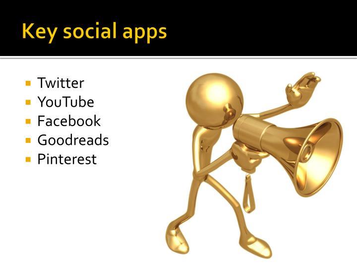 Key social apps