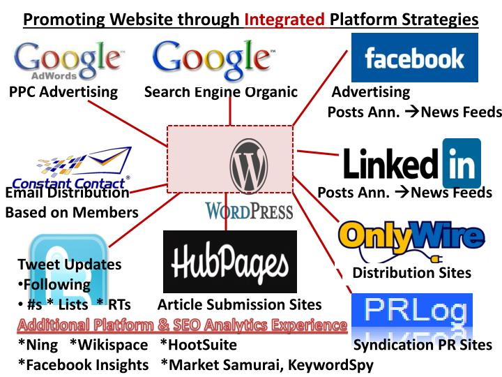 Promoting website through integrated platform strategies