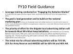 fy10 field guidance