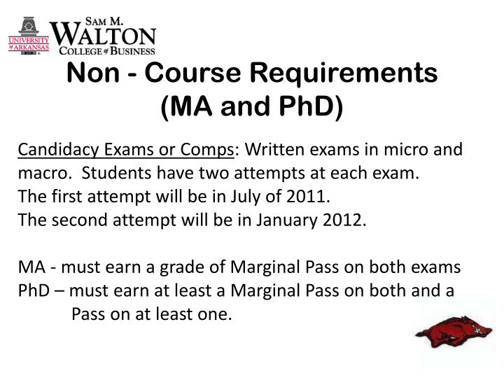Non - Course Requirements