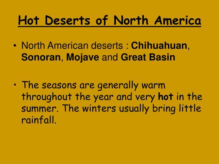 Hot Deserts of North America