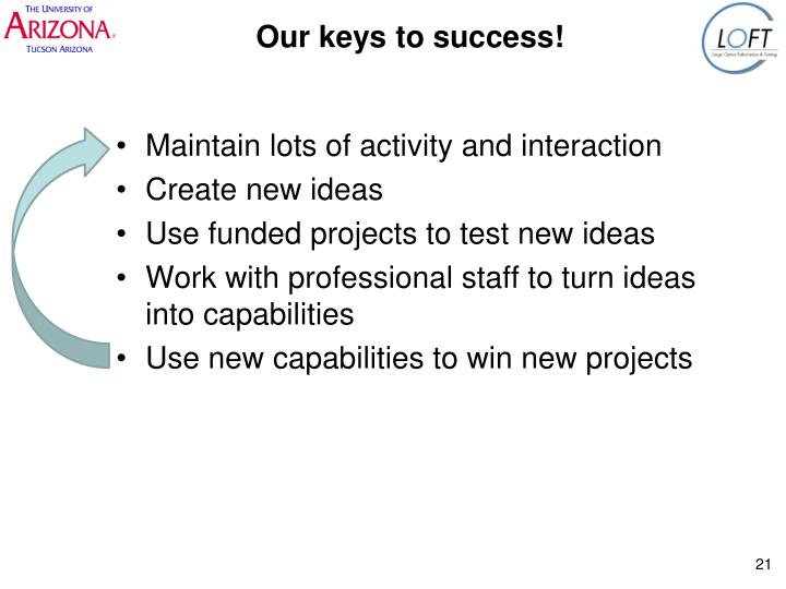 Our keys to success!