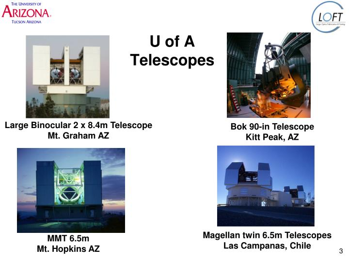 U of A Telescopes