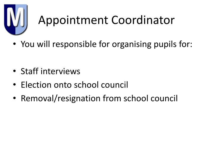 Appointment Coordinator
