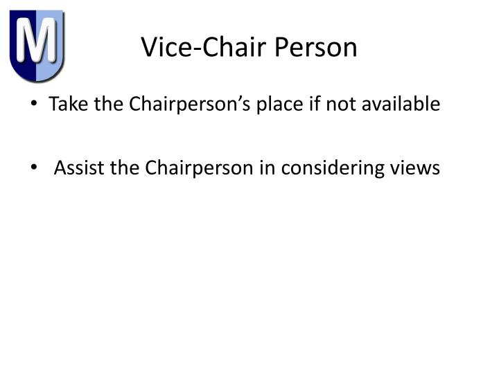 Vice-Chair Person