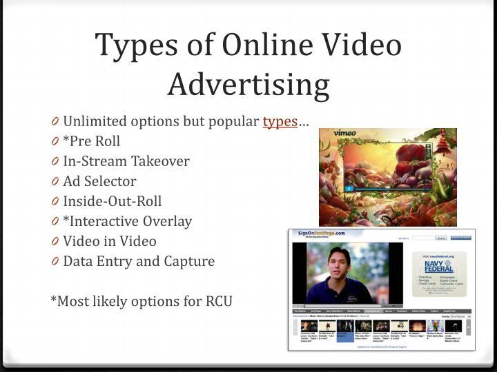Types of Online Video Advertising