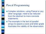 pascal programming1