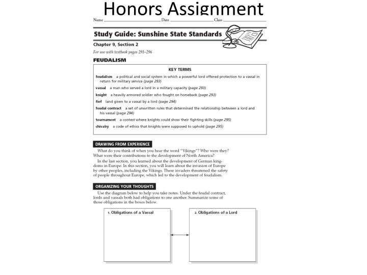 Honors Assignment