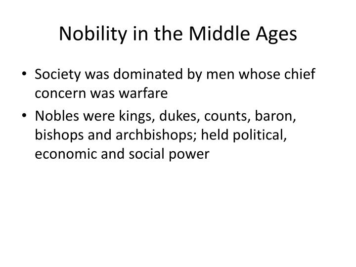 Nobility in the Middle Ages