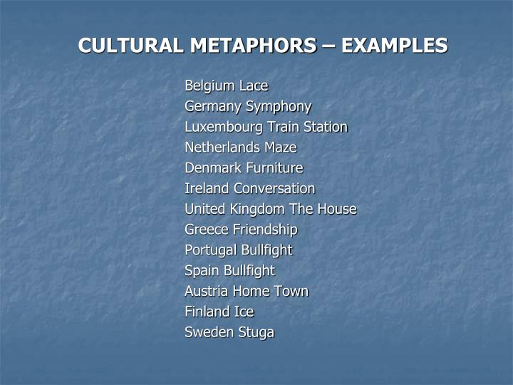Ppt Cultural Metaphors What They Are Powerpoint Presentation