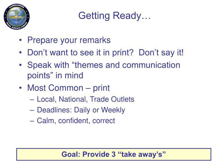 Getting Ready…