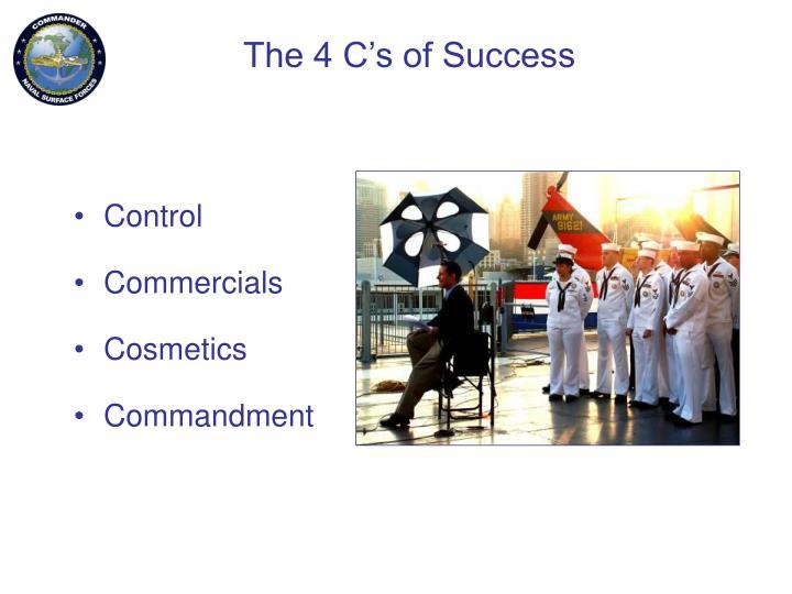 The 4 C's of Success