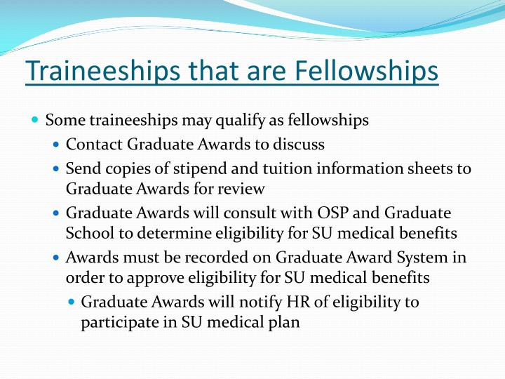 Traineeships that are