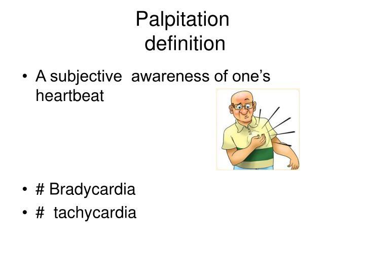 Palpitation definition