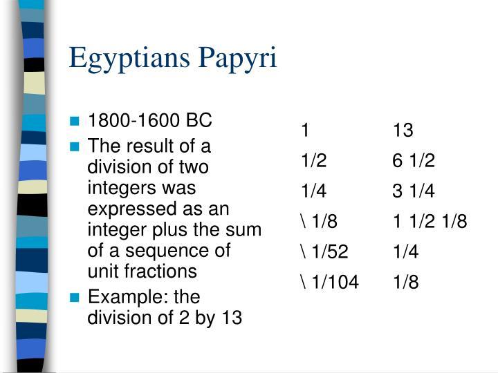 Egyptians Papyri