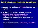 briefly about teaching in the soviet union