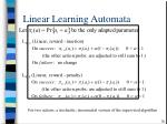 linear learning automata