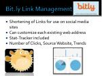 bit ly link management