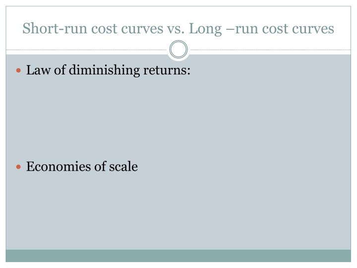 Short-run cost curves vs. Long –run cost curves