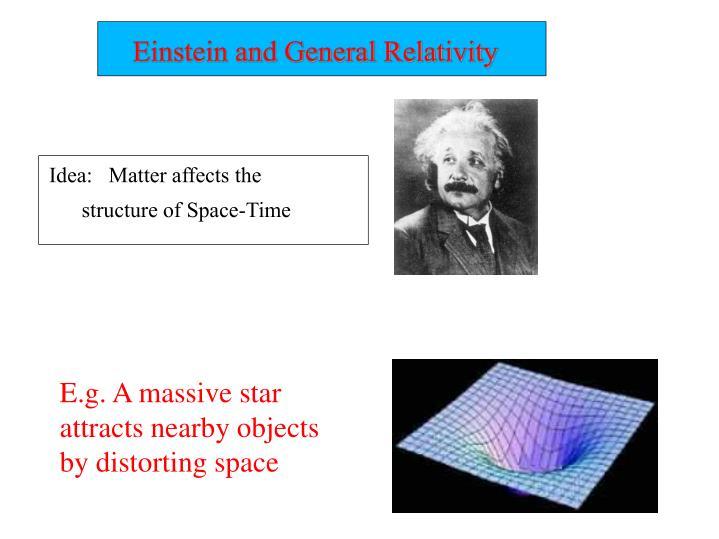 Einstein and General Relativity