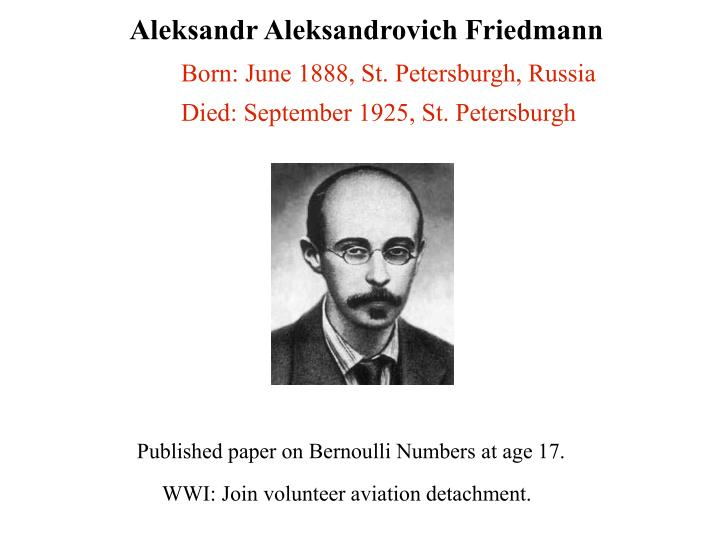 Aleksandr Aleksandrovich Friedmann