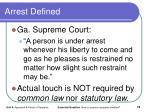 arrest defined1