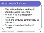 arrest warrant issues
