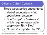 officer citizen contacts