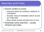 searches and frisks