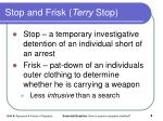 stop and frisk terry stop