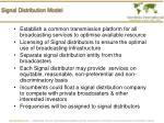 signal distribution model