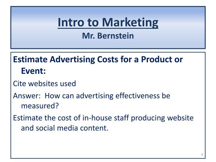 Intro to marketing mr bernstein2