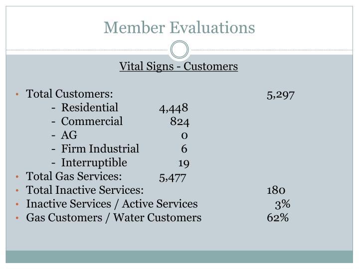 Member evaluations1