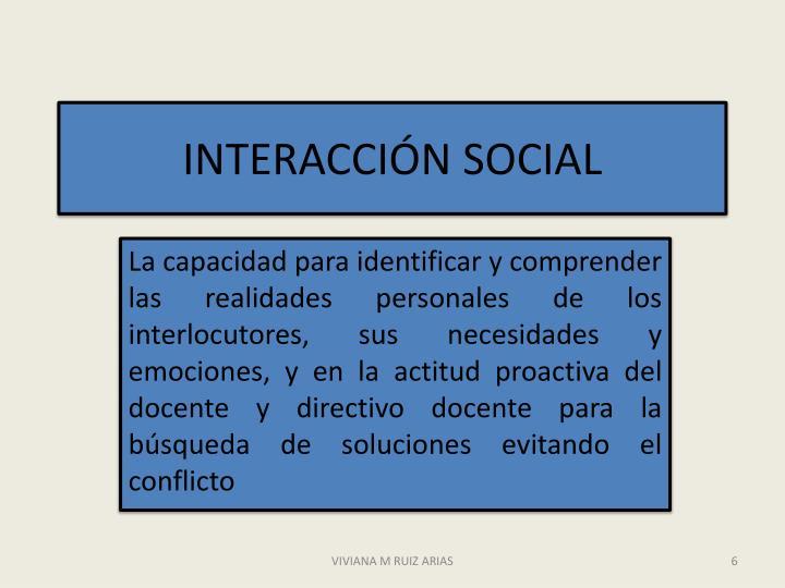 INTERACCIÓN SOCIAL