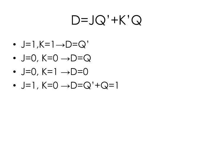 D=JQ'+