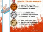 2011 prizes and awards