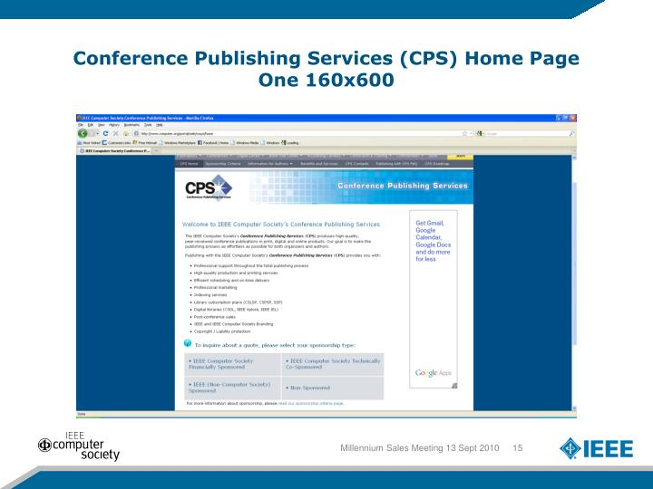 Conference Publishing Services (CPS) Home Page