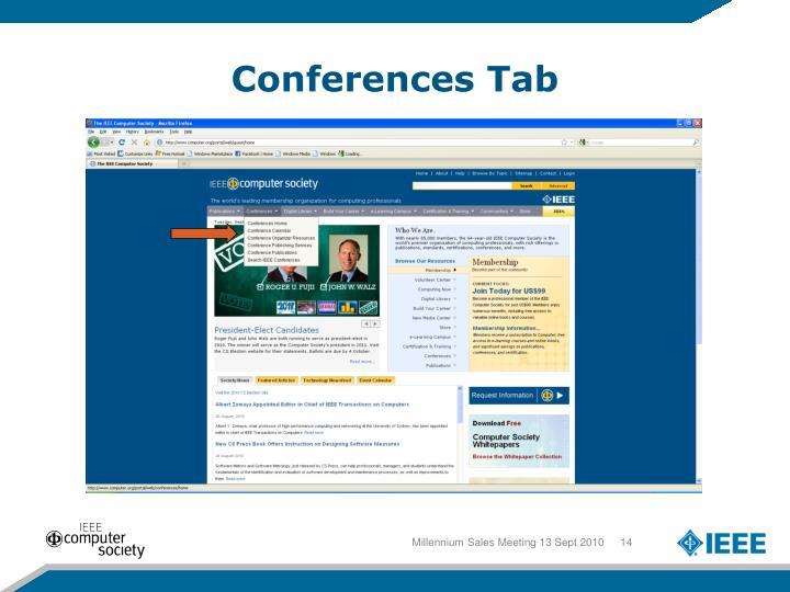 Conferences Tab