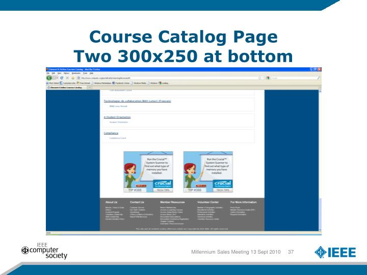 Course Catalog Page