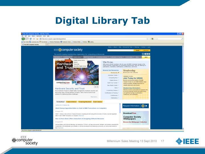 Digital Library Tab