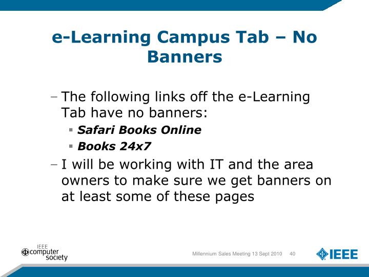 e-Learning Campus Tab – No Banners