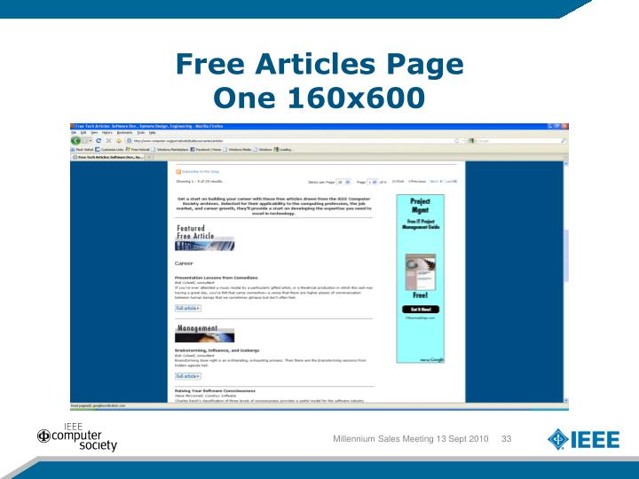 Free Articles Page