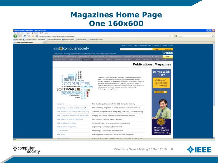 Magazines Home Page