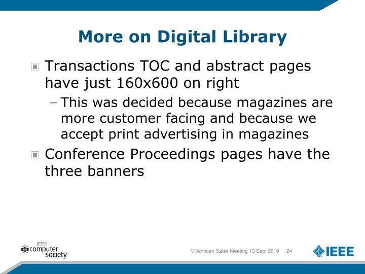 More on Digital Library