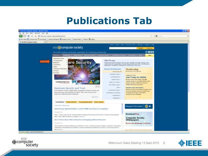 Publications Tab
