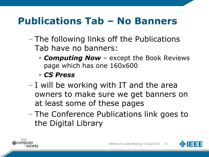 Publications Tab – No Banners