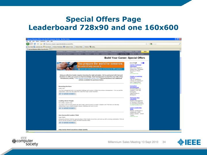 Special Offers Page