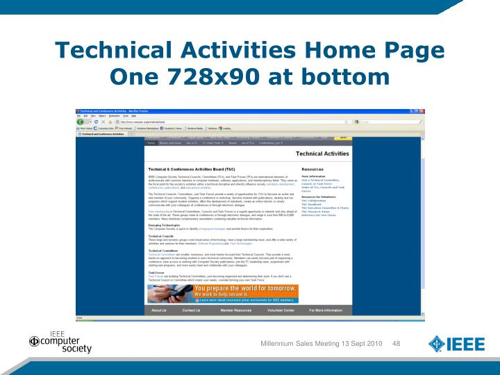 Technical Activities Home Page