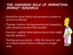 the changing role of marketing market research